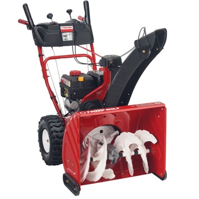"Troy-Bilt 24"" Two Stage Snow Blower With Electric Start"