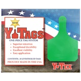 Green Y-Tag Cow Blank Bag of 25