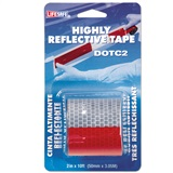 "Tape Reflective Red/Silver 2"" x 10'"