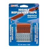 "Tape Reflective Red/Silver 2"" x 25'"