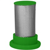 STRAINER POLY 4PK RED CHK VALV