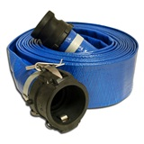 "3"" X 50' PVC Lay Flat Discharge Hose"