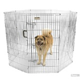 Silver Yard Kennel With Door