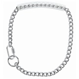 "Weaver Leather GOAT 22"" CHAIN COLLAR WITH RUBBER HANDLE 22"""