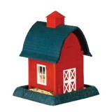 Small Red Barn Bird Feeder