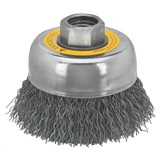 "BRUSH 5"" CRIMPED CUP 5/8""-11"