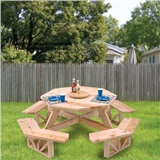 "PATTERN PICNIC TABLE 50"" OCT"