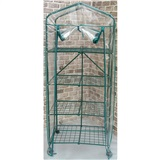 4 Tier Greenhouse Foldable HD Cover w/ Casters 27in x19in x63in 27in x19in x63in
