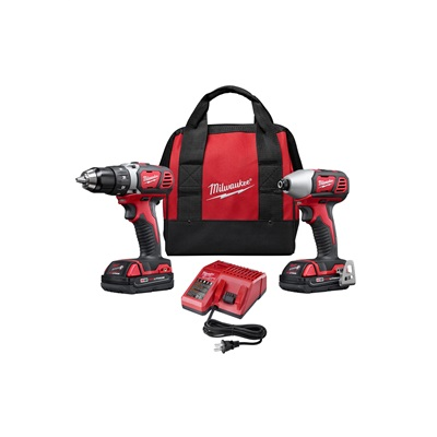 Milwaukee 18V Lithium Ion Compact Drill & Impact Driver Combo