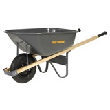WHEELBARROW 6CU FT STEEL CONTR