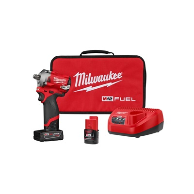 M12 FUEL™ 12 Volt Lithium-Ion Brushless Cordless 1/2 in. Stubby Impact Wrench Kit