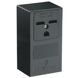SURFACE RECEPTACLE 30A-250V, IN BLACK