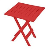 RESIN FOLDING TABLE RED