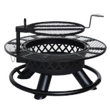 Black Metal Fire Pit 42""