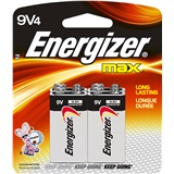BATTERY 9V 4PACK ENERGIZER MAX