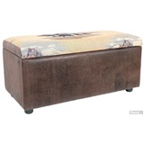 Large Western Ottoman With Storage